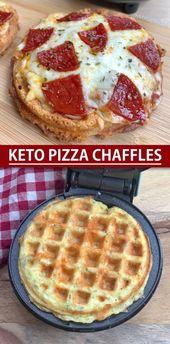 Keto Pizza Chaffles