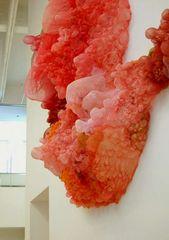 Lisa Kellner, textile sculpture – silk, thread, paint, bleach and acrylics