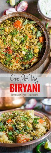One Pot Easy Vegetable Biryani | Healthy Indian Vegetarian Recipe