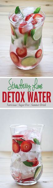 Spring Cleansing Strawberry Detox Water