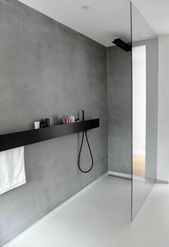 Wände im bad#bathroomdesign #bathroomdecor #shower #grey #wall #luxury