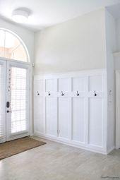 $100 board and batten entryway with hooks