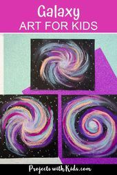 Awesome Galaxy Chalk Pastel Art Project for Kids | Chalk pastel art, Space crafts for kids, Galaxy c