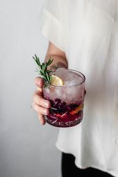 Blueberry Lemon Vodka Spritz • Serendipity by Sara Lynn
