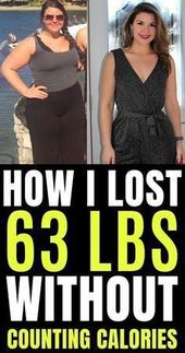 How I lost 63 lbs in 4 months without counting calories