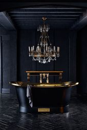 Luxury Brass Bateau Baths