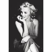 Obtain Art For Less 'Marilyn Monroe Sitting' by Corbis Photographic Print on Wrapped Canvas | Wayfair