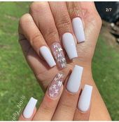 White Crystal Nail Art for 2020