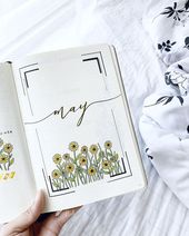 25 Bullet Journal Monthly Cover Ideas for May – Beautiful Dawn Designs