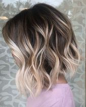 Balayage Brown Short Curly Hair