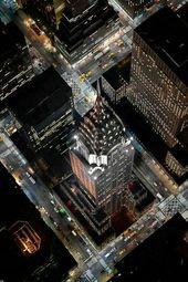 Photographies de New York la nuit: Photos aériennes d'une ville époustouflante – Paperblog