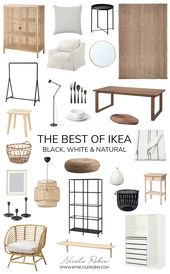 The Best of Ikea: Black White & Natural Pieces That Look Expensive