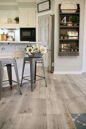 Updating a Kitchen with Vinyl Engineered Plank Flooring | CuterTudor