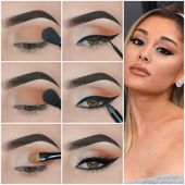 Chic Light Brown Eye Makeup Step by Step Tutorials Grammys @arianagrande
