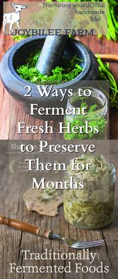 Fermented Fresh Herbs Preserve the Intense Flavor While Adding Probiotics