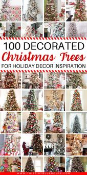 Here are over 100 best gorgeous festive Christmas tree decor ideas that you can use as inspiration f