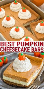 The Ultimate Pumpkin Cheesecake Bars [VIDEO] – Sweet and Savory Meals