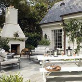 Top 60 Best Patio Fireplace Ideas – Backyard Living Space Designs