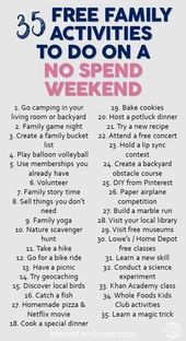 35 Fantastic Free Family Activities For Your Weekend