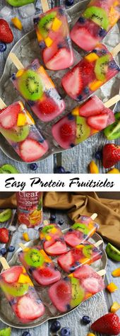 Easy Protein Fruitsicles with Premier Protein's Clear Protein Drink