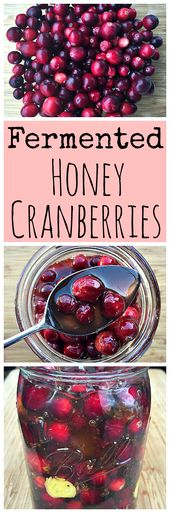 Fermented Honey Cranberries
