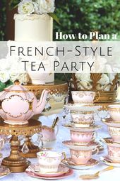 French Style High Tea Party