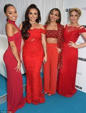 Little Mix are racy in red at Glamour Awards