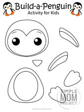 Printable Build-a-Penguin Craft for Kids