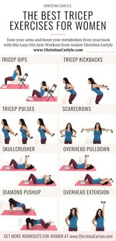 The Ideal Tricep Exercises for Women to Get Restricted, Toned Arms