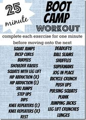 25 Minute Boot Camp Workout – Peanut Butter Fingers
