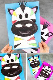 3D Zebra Craft for Kids