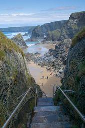 Bedruthan Steps, Cornwall, UK