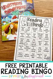 Free Printable Reading Bingo – Primary Playground