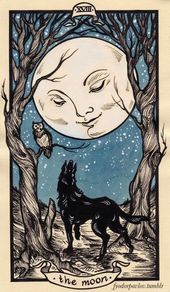 Fyodor Pavlov The Moon Tarot Art Print