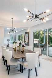 Glamorous Dining Room Design Inside a Tropical Paradise Mansion