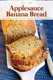 Low Fat Applesauce Banana Bread | Simple Nourished Living