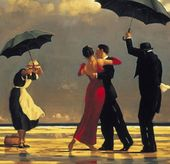 Vettriano's Singing Butler in rare exhibition