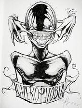 Художник мрачно, ноправдиво икруто рисует человеческие страхи