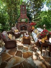 40 Best Flagstone Patio Ideas with Fire Pit – Hardscape Designs