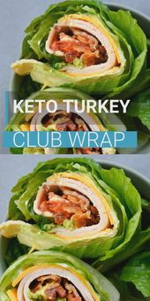 Keto Turkey Club Wrap