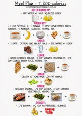 Meal Plan:  1,200 calories (summer)