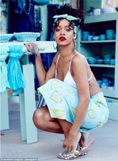 Rihanna shows off more of her River Island collection in Greece
