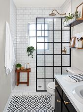 This Small Bath Makeover Blends Budget-Friendly DIYs and High-End Finishes