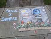 26 Pop Culture And Quarantine-Inspired Sidewalk Chalk Drawings From A Self-Taught Artist