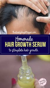 Homemade DIY Hair Growth Serum To Stimulate Hair & Stop Hair Fall
