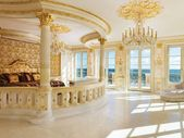 An extravagant Florida mansion that's modeled after the Palace of Versailles sold at auction for a $115 million price cut — here's a look inside