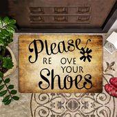 Please Remove Your Shoes Doormat Take Off Shoes Mat Best Indoor Doormat Outdoor Entry Mat – 25X15 IN