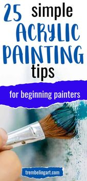 Simple Acrylic Painting Tips for Beginners