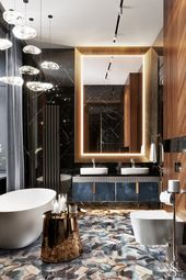 Мастер-ванна апартаментов в Вене