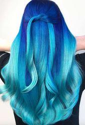 65 Iridescent Blue Hair Color Shades & Blue Hair Dye Tips – Glowsly